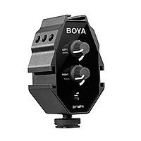 Boya BY-MP4 - Bộ trộn micro stereo cho máy ảnh - Hàng Chính Hãng