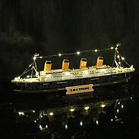 Đồ chơi lắp ráp gỗ 3D Mô hình Tàu R.M.S Titanic - Tặng kèm Đèn LED trang trí