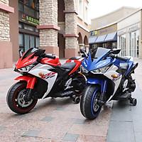 Xe máy điện moto 3 bánh R3 siêu thể thao đồ chơi cho bé tự lái (Đỏ-Hồng-Xanh)