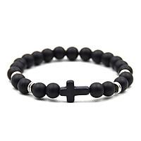 Unisex Fashion Elegant Cross Beaded Bracelet Simple Elasticity Hand Chain