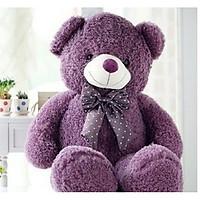 Gấu Teddy lông xù nhồi bông tím