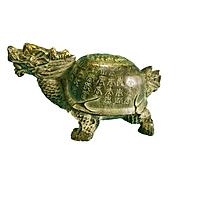 Tượng Rùa đầu rồng - Long quy cao 6cm - Linh vật phong thuỷ bằng đồng thau