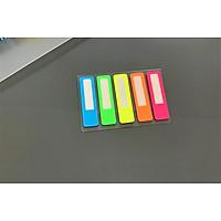 Note nhựa 5 màu phong cách Nhật Bản - 2 vỉ