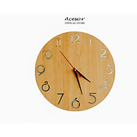 Đồng Hồ Treo Tường Mặt Gỗ Acescor DHG07- Nội Thất Sang Trọng, Trang Trí Nhà Cửa, Quán Cà Phê, Homestay (Wall Clock Acescor)