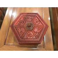 Khay hộp mứt tết gỗ hương