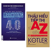 Combo sách Marketing - Bán hàng hay : Bán mà như không MARKETING thực chiến trong thời 4.0 + Thấu hiểu tiếp thị từ A - Z - Tặng kèm Postcard HAPPY LIFE