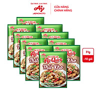 Lốc 10 gói gia vị nêm sẵn Thịt kho Aji-Quick 31g