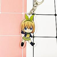 ( Mica trong acrylic ) Móc khóa Gotoubun no Hanayome Nhà có năm nàng dâu anime chibi
