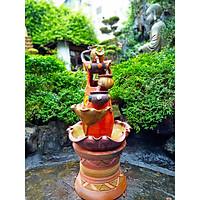 Bộ Thác nước phong thủy - Thác nước gốm cao cấp - Thác nước sân vườn - Đồ phong thủy mang vận may, tài lộc đến gia đình