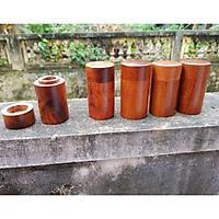 Lọ tăm gỗ hương  hình trụ - hàng tiện thủ công bằng tay