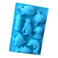 Khuôn Silicon 8 con cá voi, chim cánh cụt