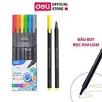 Bút đi nét Deli - Ngòi bọc kim loại 0.45mm - Mực có thể rửa được - EQ900