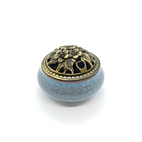 Lư hương xanh quà tặng mỹ nghệ KBP DOJI DJDE0519LHX