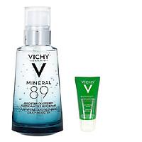 Dưỡng Chất Khoáng Cố Đặc Vichy M89 50ml Tặng Sữa rửa mặt giảm dầu, ngăn ngừa mụn Vichy Normaderm Phytosolution (50ml)