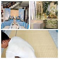 Mành tăm tre trang trí phông đám cưới siêu đẹp