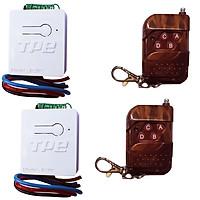Bộ 02 công tắc điều khiển từ xa TPE RC5H-12V, 4A + 2 Remote RM04, 315Mhz, Sản xuất tại Việt Nam