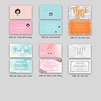Hộp 95- 100 card cám ơn, thiệp cảm ơn hoặc Thank you card dành riêng cho shop bán hàng dùng để tặng khách hàng