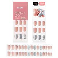 Bộ 30 Móng Tay Gel Tự Dán Press & Go Kiss New York Nail Box - Diamond Pattern (KPNS14K)