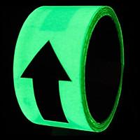 Mũi tên đen - Băng keo tape dạ quang chống thấm nước trang trí 5cmx5m