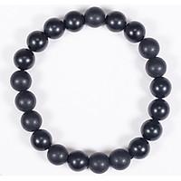 Vòng tay phong thủy đá obsidian nhám mệnh thủy ,mộc - Ngọc Quý Gemstones