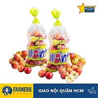 [Chỉ Giao HCM] - Táo Fuji mini Nam Phi (Túi 3Kg) - Quả táo nhỏ, cầm chắc tay, vỏ táo sọc cam đỏ, thịt táo khá giòn và ngọt