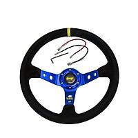 Blue Steering Wheel ID=14inch 350mm OMP Deep Corn Drifting Steering