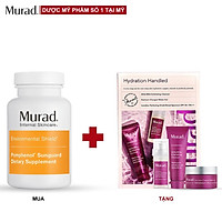 Bộ sản phẩm sáng khỏe Murad Pomphenol Sunguard Dietary Supplement 60 viên Tặng Hydration Handled Kit