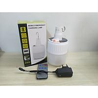 Bóng đèn sạc năng lượng liền thể phi 100 siêu sáng SL24 - có điều khiển từ xa, chế độ hiển thị pin ( sạc hai chế độ bằng điện hoặc năng lượng mặt trời)
