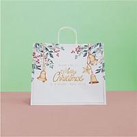Túi giấy Kraft Trắng Noel Xmas- Size 36 x 30.5 x 12cm [COMBO 10 cái] Mã XMAS06T