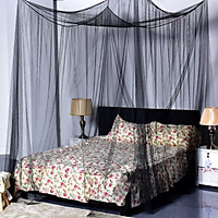 Black Mosquito Fly Bug Insect Protection Net Netting Screen Mesh Double King Bed