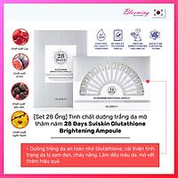 [Set 28 Ống] Tinh chất dưỡng trắng da mờ thâm nám 28 Days Suiskin Glutathione Brightening Ampoule