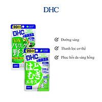 Combo Viên uống DHC Sáng hồng da (Rau Củ & Adlay)