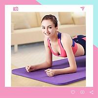 Thảm Yoga Siêu Dày Dặn Loại Tốt 10mm T10 Màu Tím