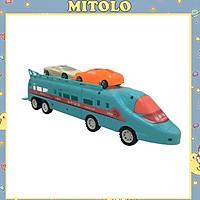 Đồ chơi mô hình xe điện ngầm cho bé Mitolo xe lửa chở ô tô 1101-30