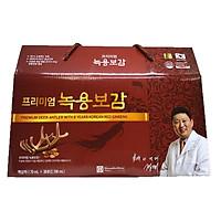 Thực phẩm bảo vệ sức khỏe: Chiết xuất nhung hươu và hồng sâm Hàn Quốc 6 năm tuổi Chong Kun Dang 70ml x 30 gói