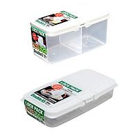 Combo 2 hộp chia ngăn đựng thực phẩm/bánh ăn dặm cho bé (300ml & 700ml) + Tặng 5 túi zipper 15x20cm