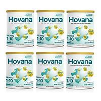 Bộ 6 Lon Sữa Bột Hovana Grow IQ 900gr Hỗ trợ tiêu hóa tốt, tăng miễn dịch, tăng cân tự nhiên cho bé 1 đến 10 tuổi