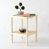 Kệ đầu giường gỗ A295 kiểu Hàn Quốc 2 tầng vuông mặt kính, chất liệu gỗ thông qua xử lý không mối mọt, đảm bảo bền đẹp, không cong vênh, gọn nhẹ và đa năng tiện dụng, kệ tủ đầu giường 2 tầng