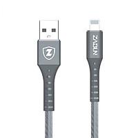Cáp Sạc Nhanh C01 - Xám - Dây tròn Zabun siêu bền Lightning Tự ngắt cho iPhone/iPad tự ngắt khi pin đầy Chống Chai Pin iPhone - Hàng chính hãng