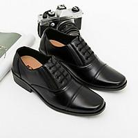 Giày tây nam cao cấp GT01, Giày da nam đơn giản lịch lãm, Tặng kèm 2 đôi tất xanh