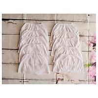 10 quần đùi trắng xô mỏng viền chỉ  cho bé