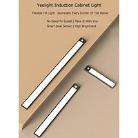 [2021] Đèn led thanh cảm biến dán tủ thông minh Yeelight, 20-40-60cm, pin sạc type C - Hàng nhập khẩu chính hãng
