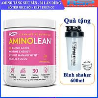 Combo BCAA Amino Lean của RSP hộp 30 lần dùng hỗ trợ tăng sức bền, sức mạnh và phục hồi, phát triển cơ bắp trong tập luyện cho người tập gym & Bình lắc 600ml (Mẫu ngẫu nhiên)