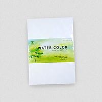 Giấy vẽ màu nước A5 - dòng giấy lên màu đẹp tự nhiên (15tờ/túi)