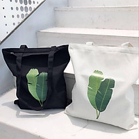 Túi canvas, tote vải họa tiết lá GADY' shop