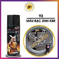 Sơn Samurai màu bạc kim loại Y3 - chai sơn xịt cao cấp dành cho sơn xe máy