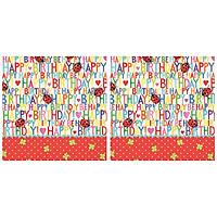 Combo 2 Xấp Khăn Giấy Ăn Trang Trí Bàn Tiệc Tissue Napkins Design Ti-Flair 371783 (33 x 33 cm) - 40 tờ