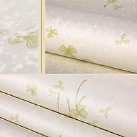 5m giấy decal cuộn hoa xanh lá DT28(45x500cm)