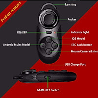 Bluetooth Remote Controller Wireless Adapter VR Joystick Gamepad for Android IOS PC TV Box 3D Virtual Reality Glasses