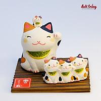 Mèo Thần tài Nhật bản Ryukodou 5 Mèo Trắng